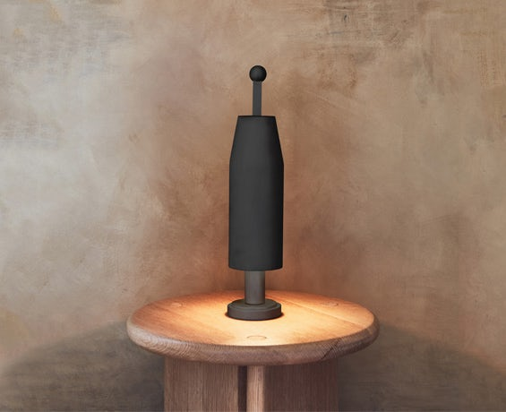 An alternative image of Chamber Table Lamp in use