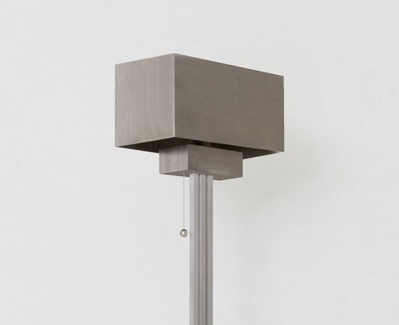 An alternative image of Block Floor Lamp in use