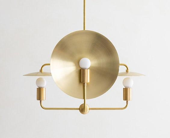 The Orbit Chandelier designed by Workstead