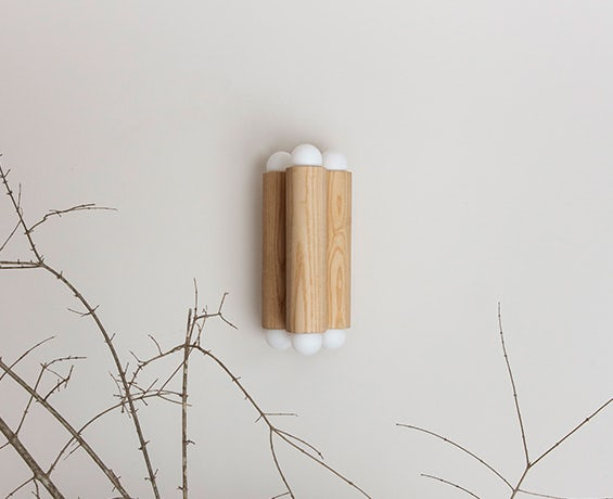 An alternative image of Column Sconce Small in use