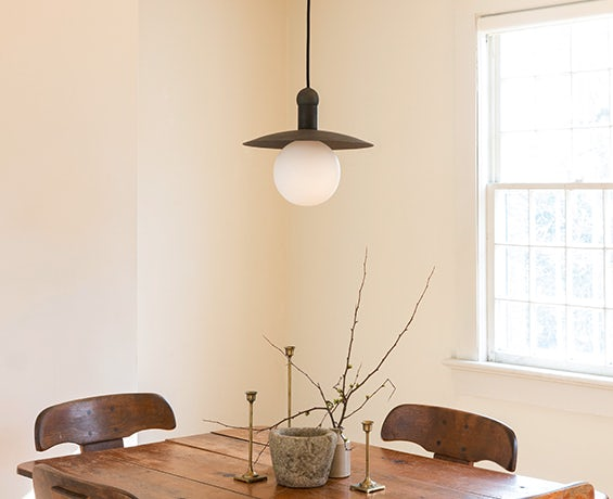 An alternative image of Helios Cord Pendant in use